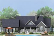 Country Style House Plan - 4 Beds 2.5 Baths 2361 Sq/Ft Plan #929-793 Exterior - Rear Elevation