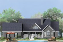 Architectural House Design - Country Exterior - Rear Elevation Plan #929-793
