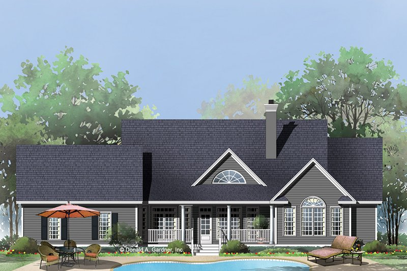 Country Exterior - Rear Elevation Plan #929-793 - Houseplans.com