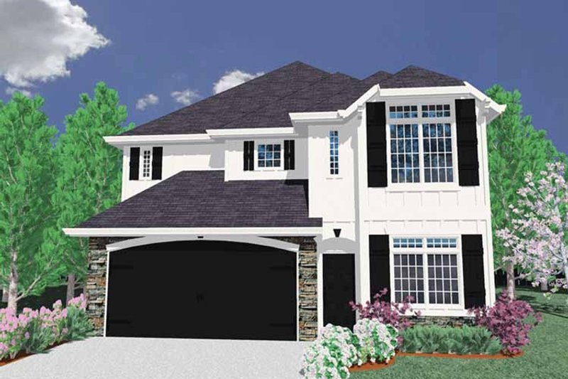 Traditional Exterior - Front Elevation Plan #509-293
