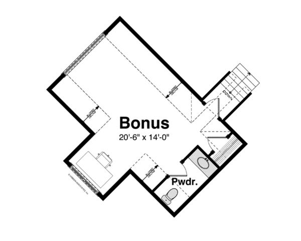 Craftsman Floor Plan - Other Floor Plan Plan #928-253