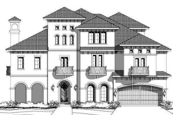 European Exterior - Front Elevation Plan #411-656