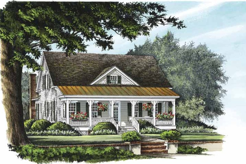 Country Exterior - Front Elevation Plan #137-323 - Houseplans.com
