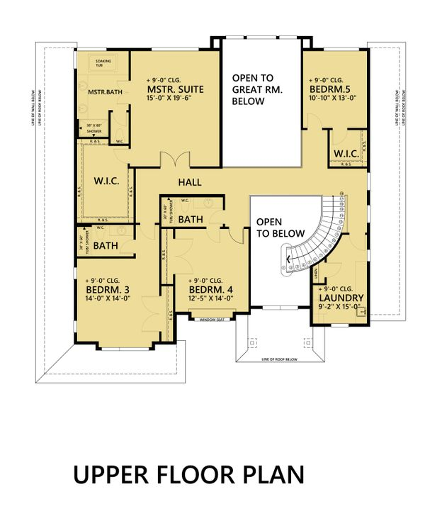 Contemporary Floor Plan - Upper Floor Plan Plan #1066-45