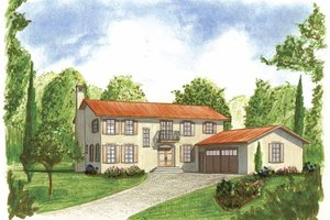 Mediterranean Exterior - Front Elevation Plan #1042-9