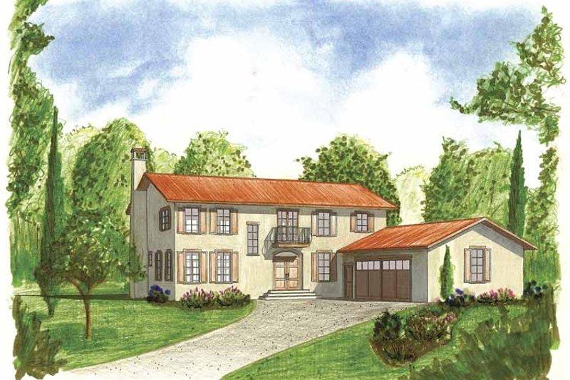 House Plan Design - Mediterranean Exterior - Front Elevation Plan #1042-9