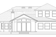 Country Exterior - Rear Elevation Plan #1058-114