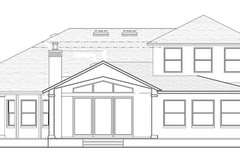 Country Exterior - Rear Elevation Plan #1058-114 - Houseplans.com