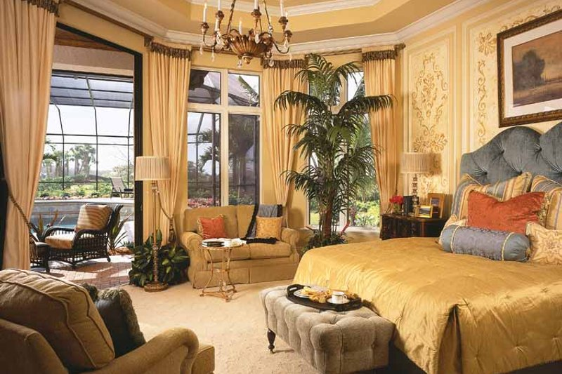 Mediterranean Interior - Master Bedroom Plan #930-92 - Houseplans.com