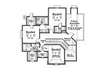 European Floor Plan - Upper Floor Plan Plan #310-992
