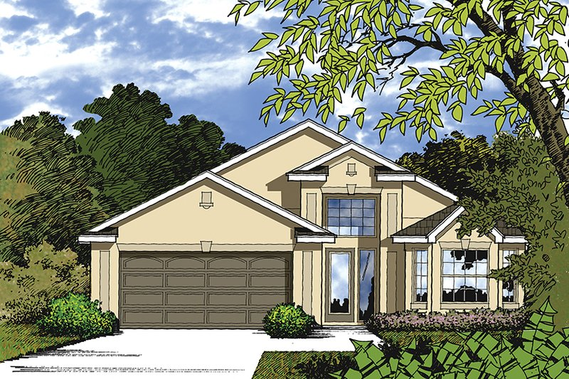 Mediterranean Exterior - Front Elevation Plan #417-837
