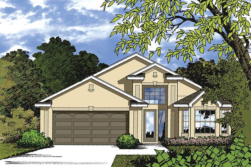 Architectural House Design - Mediterranean Exterior - Front Elevation Plan #417-837