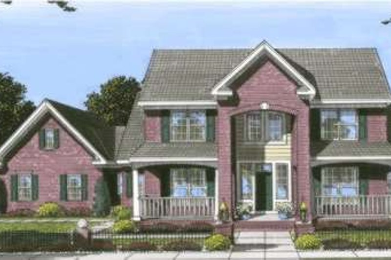 Traditional Exterior - Front Elevation Plan #20-1827 - Houseplans.com
