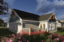 Dream House Plan - Ranch Exterior - Rear Elevation Plan #70-1241