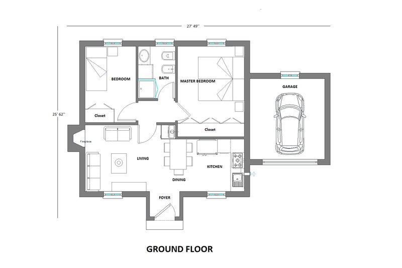 European Floor Plan - Main Floor Plan Plan #542-6