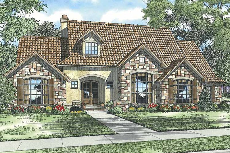 European Exterior - Front Elevation Plan #17-2930 - Houseplans.com