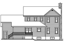 Home Plan Design - Farmhouse Exterior - Rear Elevation Plan #23-293