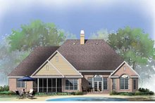 Dream House Plan - Traditional Exterior - Rear Elevation Plan #929-778
