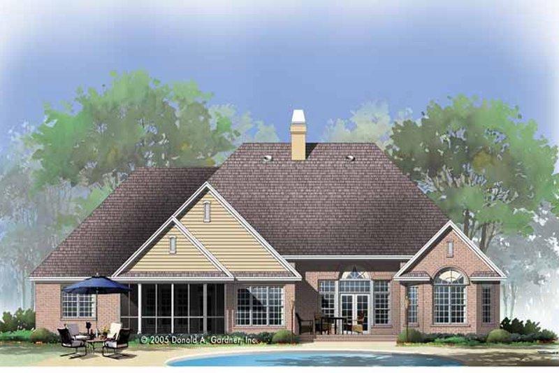 Traditional Exterior - Rear Elevation Plan #929-778 - Houseplans.com