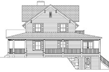 House Plan Design - Colonial Exterior - Other Elevation Plan #1061-6