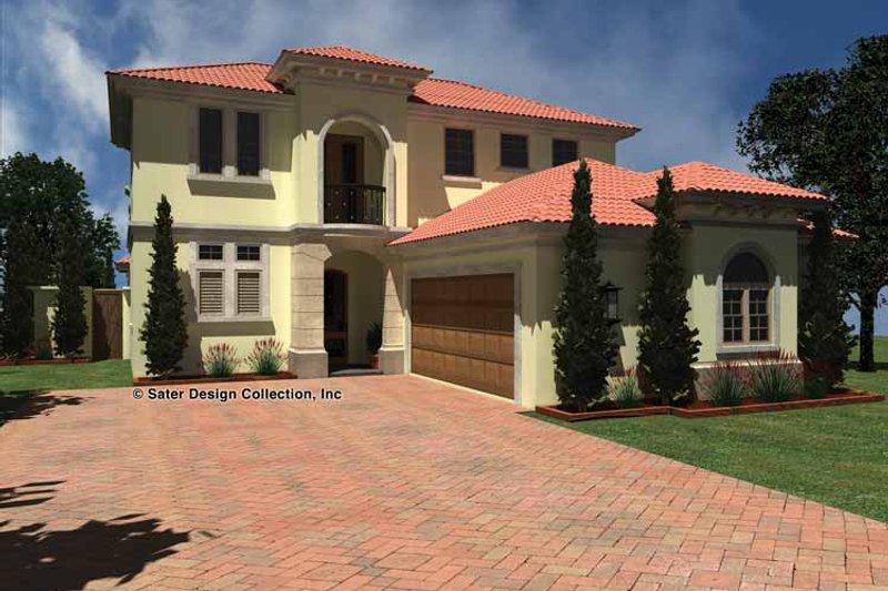 Architectural House Design - Mediterranean Exterior - Front Elevation Plan #930-434