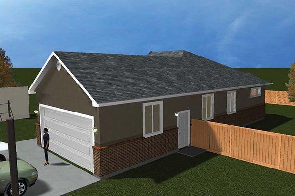 Ranch Floor Plan - Other Floor Plan Plan #1060-9