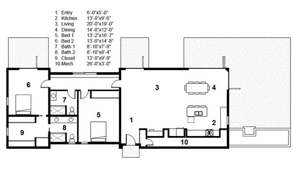 Modern Floor Plan - Main Floor Plan Plan #497-32