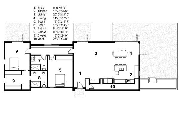 Modern Floor Plan - Main Floor Plan Plan #497-32
