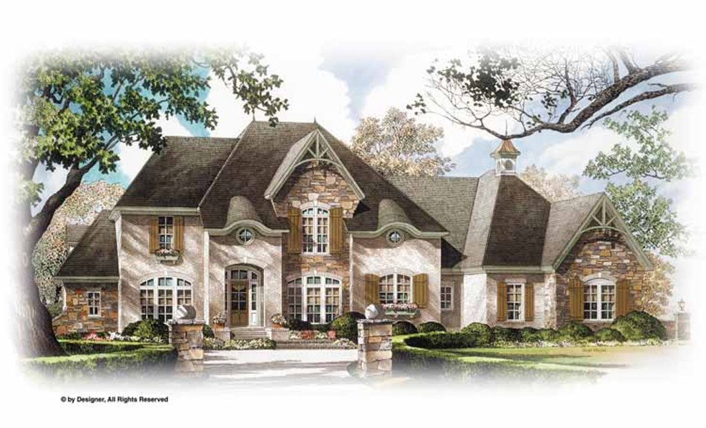 Country Exterior - Front Elevation Plan #952-276