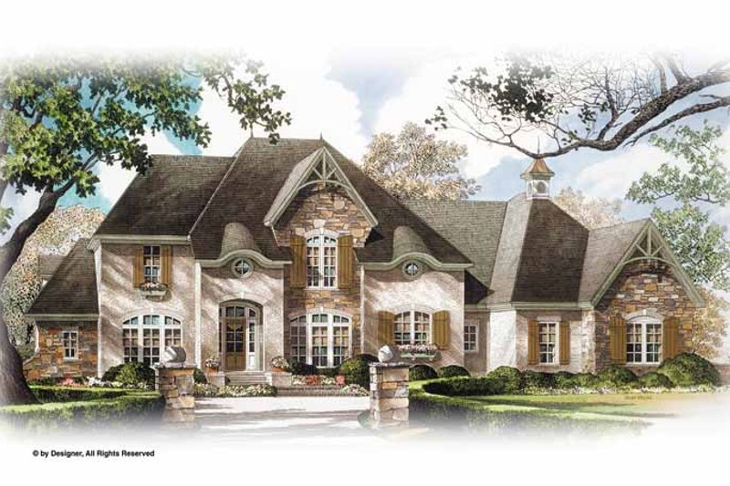 Dream House Plan - Country Exterior - Front Elevation Plan #952-276