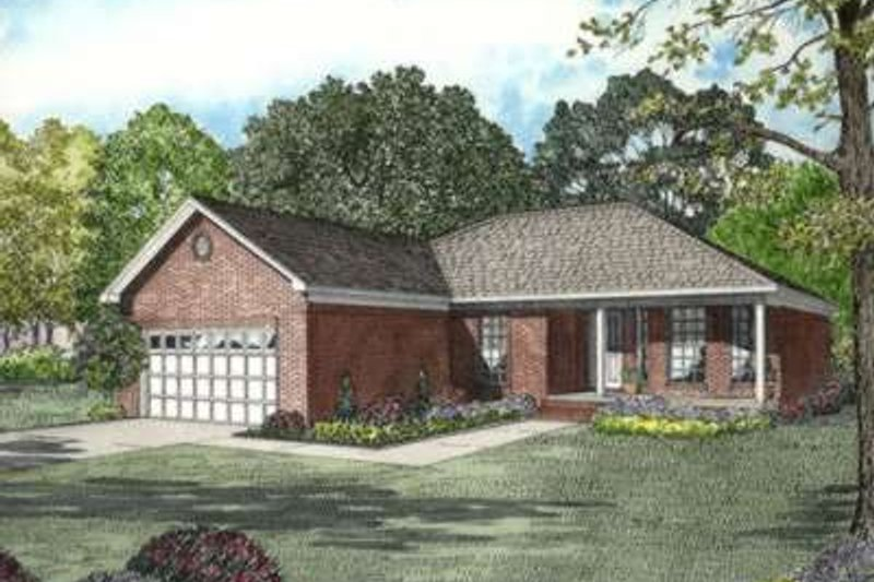 Home Plan - Traditional Exterior - Front Elevation Plan #17-2188