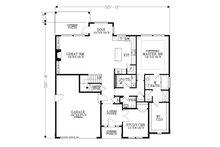 Traditional Floor Plan - Main Floor Plan Plan #53-615