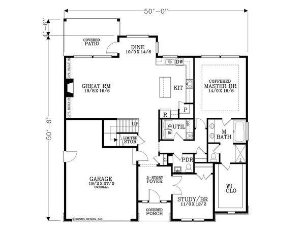 Traditional Floor Plan - Main Floor Plan Plan #53-615
