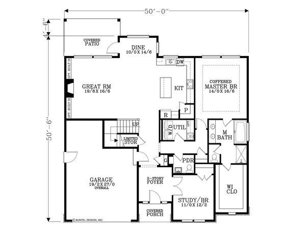 House Plan Design - Traditional Floor Plan - Main Floor Plan #53-615