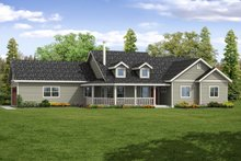 Country Exterior - Front Elevation Plan #124-1066