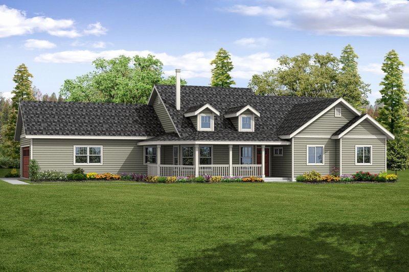 House Plan Design - Country Exterior - Front Elevation Plan #124-1066