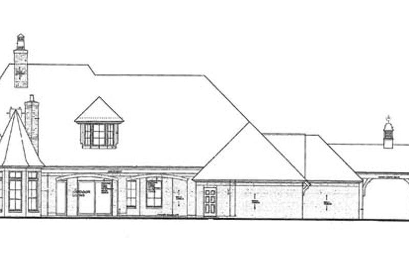 European Exterior - Rear Elevation Plan #310-1260 - Houseplans.com