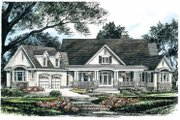 Craftsman Style House Plan - 4 Beds 4 Baths 3219 Sq/Ft Plan #929-624 Exterior - Front Elevation