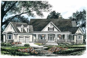 Craftsman Exterior - Front Elevation Plan #929-624