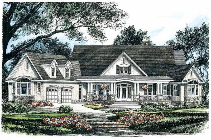 Craftsman Exterior - Front Elevation Plan #929-624