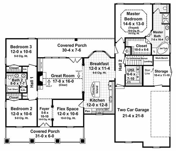 Country Floor Plan - Main Floor Plan #21-190