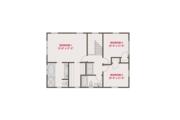 Craftsman Style House Plan - 4 Beds 3 Baths 1824 Sq/Ft Plan #461-60 Floor Plan - Upper Floor Plan