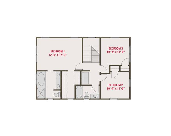 Craftsman Floor Plan - Upper Floor Plan Plan #461-60