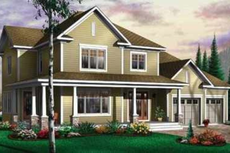 Traditional Exterior - Front Elevation Plan #23-410 - Houseplans.com