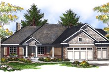House Plan Design - Traditional Exterior - Front Elevation Plan #70-698