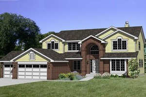 Traditional Exterior - Front Elevation Plan #116-186