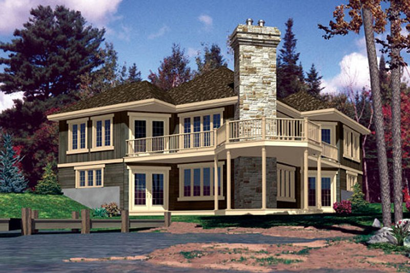 Traditional Style House Plan - 3 Beds 2 Baths 1996 Sq/Ft Plan #138-340 Exterior - Front Elevation