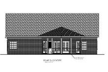 Dream House Plan - Southern Exterior - Rear Elevation Plan #56-549