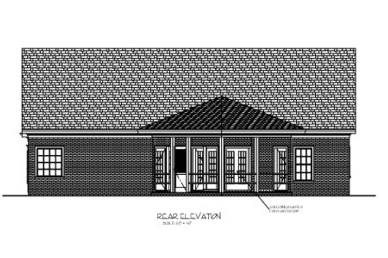 Southern Exterior - Rear Elevation Plan #56-549 - Houseplans.com
