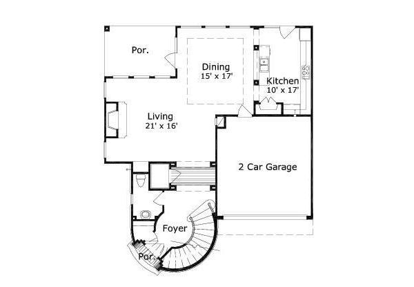 European Floor Plan - Main Floor Plan Plan #411-487